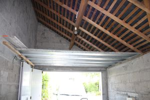 Am nagement total du garage 1e phase le blog de cl a for Garage rangement plafond