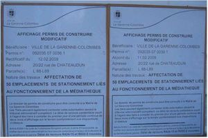 La garenne colombes centre m diath que parking et rue for Permis construire modificatif