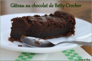 gâteau chocolat betty crocker