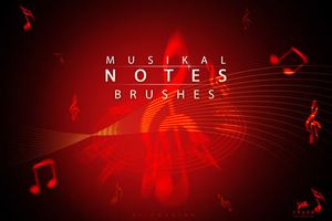 b-musikal notes brushes