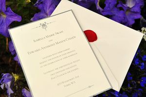 Belward's wedding invitation 1