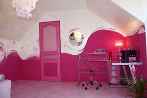 Chambre rose fushia e design de maison for Peinture rose fushia