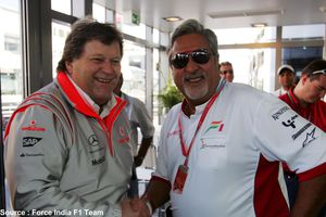 Force India - Norbert Haug, Vihay Mallya