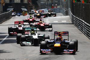 Red Bull - Mark Webber, dpart Monaco
