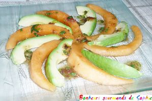 rosace melon avocat chutney figue 2