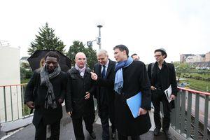 Avec Jean-Marc Ayrault et Olivier Faure à la gare du Mée
