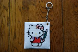Porte nom Hello Kitty de Seccotine