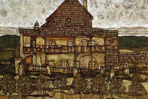 Egon_Schiele_-_Leopold_Museum-_Vienna._-House_with_Shingles.jpg