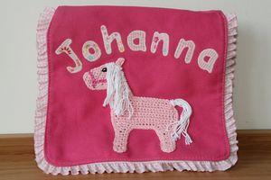 canvas neu rosa Häkelpferd