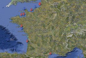 carte de france eolien off shore