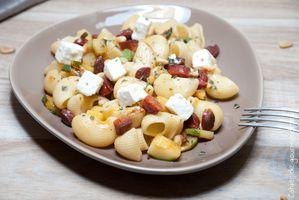 SaladePates Chorizo Courgettes