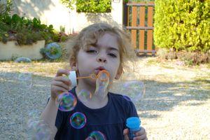 Les jolies bulles de savon !