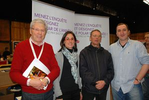 Andr Bouaissier, Marion Bourreau et Jean-Luc Goyer, organisateurs infatiguables de Rue des Livres