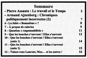S&R N°25 Sommaire