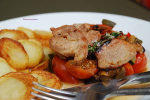 Filet mignon de porc caramélisé timbale de légumes 3