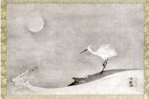 800px--Egret-_Moon_and_Wave--_ink_on_paper_by_Sesson_Shuke.jpg