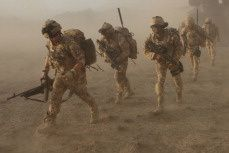 Afghan National Army and UK Forces - photo UK MOD source B