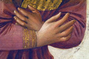 les mains de l ange detail de l annonciation