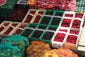 Photo des fruits au marché de Nowy targ de Zakopane