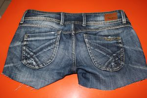 DIP DYE DENIM SHORTS 005