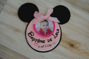 photo faire part bapteme fille minnie