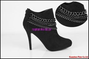 free-shipping-ankle-boots-Euramerican-punk-metal-chain-high