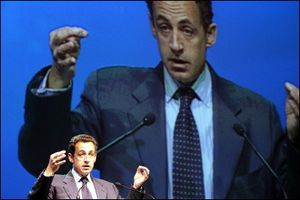 Sarkozy big screen