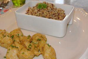 Quinoa et poulet sauce curry