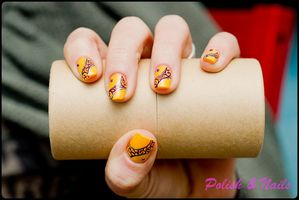 nail art jaune 01-BorderMaker