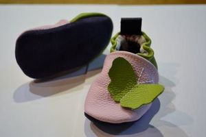 chaussons rose-vert 2