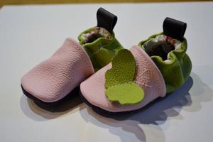 chaussons rose-vert 4