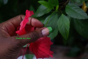 pouce french gagaforgreen hibiscus