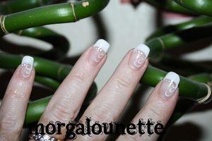 nail art morgalounette french améliorée