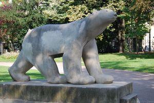Dijon - Jardin Darcy - L'ours de Pompon