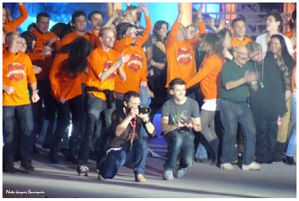 Les Enfoires 2012 techniciens sur scene 1