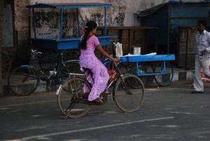 Ici meme pas peur le sahri en vélo se gère!