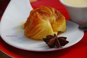 Pommes caramélisées et crème à la badiane 4