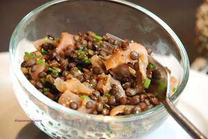 Lentilles au vinaigre et saumon fumé 3