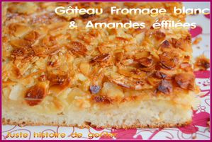 gâto fromage amandes