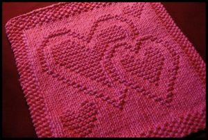 modele de coeur au tricot