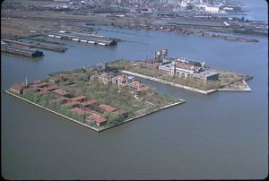 Ellis island air photo