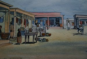 Marchéd'Afrique Mali 33x23 100€ 1978