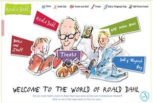 site Roald Dahl - Mathilda - Charlie et la Chocolaterie -Bookandbuzz
