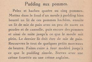 Pudding aux pommes 1