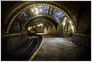 S paysage urbain Steampunk nyc city hall station 04 01