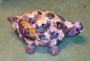 tortue peinte
