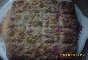 gâteau à la rhubarbe 2