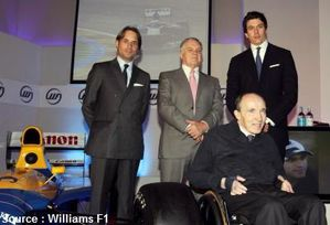 Williams - Adam Parr, Patrick Head, Frank Williams, Toto Wo