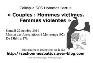 22 octobre 2011 1er colloque sos hommes battus psy conseil divorce. Black Bedroom Furniture Sets. Home Design Ideas