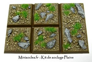 Kit socle figurines plaine étape 18